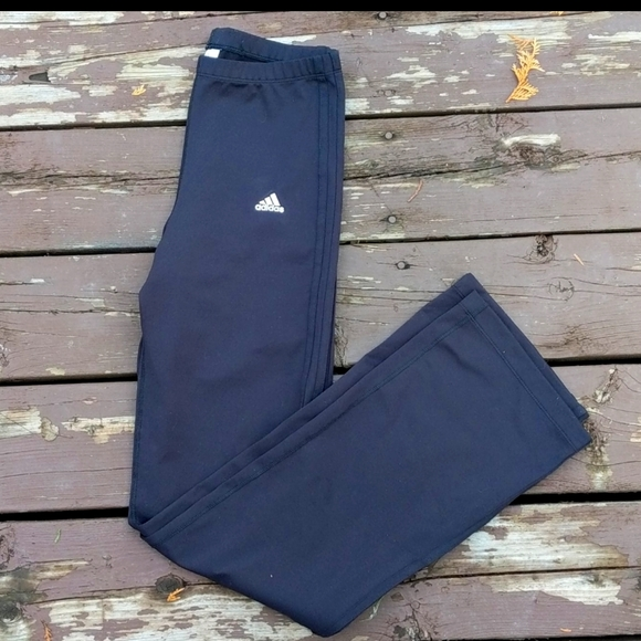 Adidas Black Climalite Wide Leg Pants M